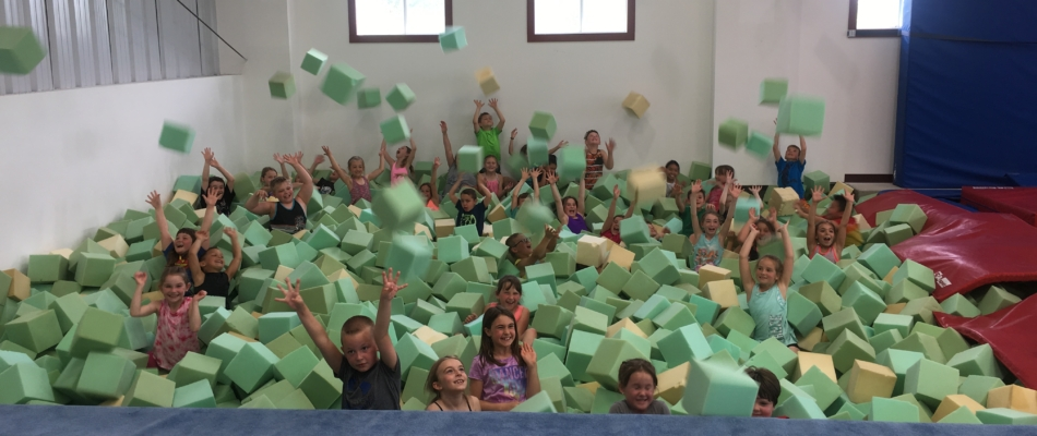 Fun in the foam pit at Pine Valley!